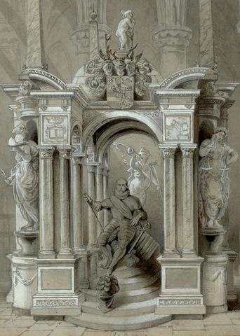 19-eeuwse tekening van P.M. Beelaerts (bron: GemeentearchiefDelft)