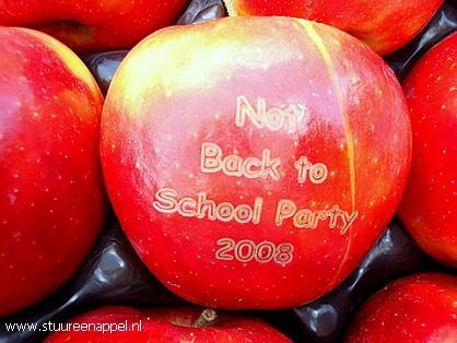 Cadeautje van een thuisonderwijsfamilie - Not Back to Schoolappels