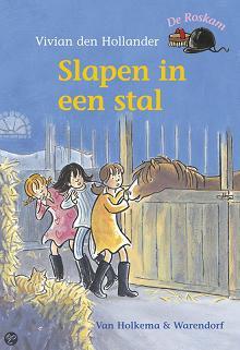 Vivian den Hollander en Saskia Halfmouw, Slapen in een stal